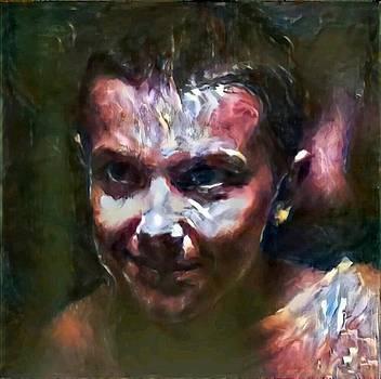 Stranger Things El Painting in purple red blue green piercing look amazing Netflix go Barb by MendyZ
