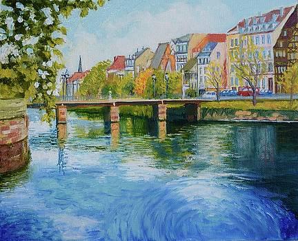 Strasbourg River Ill in Northern France by Dai Wynn