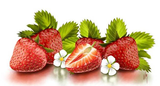 Strawberries by Veronica Minozzi
