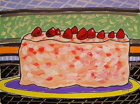 Strawberry Delight Cake by John Williams