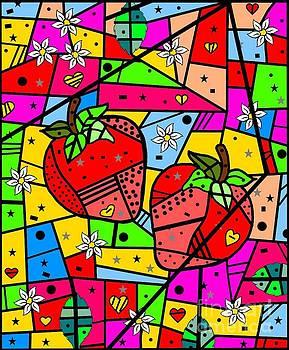 Strawberry Popart by Nico Bielow by Nico Bielow
