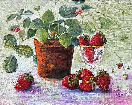 Strawberry Still Life by Marlene Book