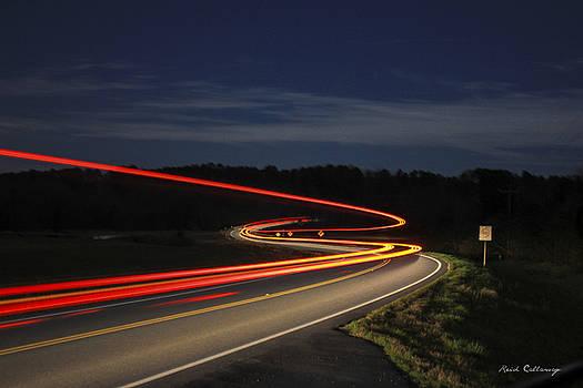 Streaking At Night Highway 15 Greene County Georgia by Reid Callaway
