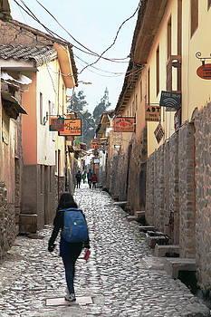 Street in Ollantaytambo, Peru by Roupen  Baker