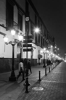 Street Lights in Lima Peru by Roupen  Baker