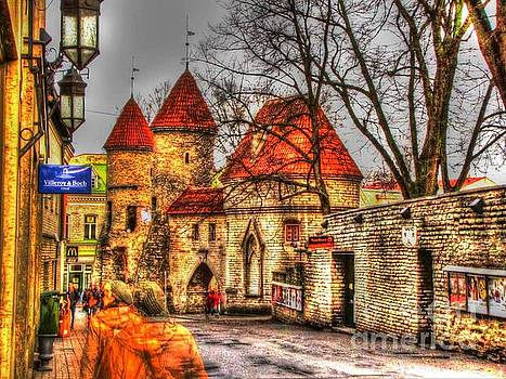 street Old Tallinn Estonia by Yury Bashkin