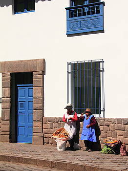 Street Scene Cusco Peru by Roupen  Baker