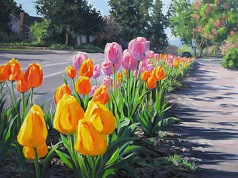 Street Tulips by Karen Ilari