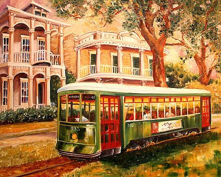 Streetcar in the Garden District by Diane Millsap