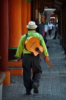 Strolling Guitarist by Jim Walls PhotoArtist
