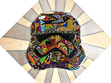 Strom Trooper Afrofuturist  by Apanaki Temitayo M