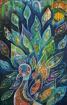 Peacock Strut by Reina Cottier