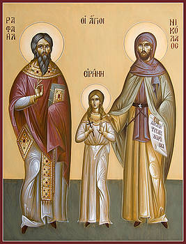 Sts Raphael Nicholas and Irene by Julia Bridget Hayes