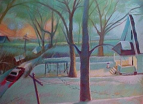 Stuck in the Snow in the Alley by Bobbi Baltzer-Jacobo