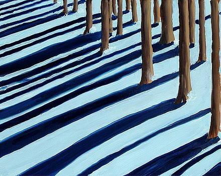 Study for Snow Shadows by Scott Alcorn