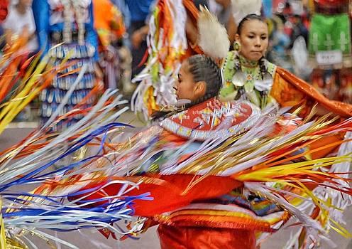 Fancy Shawl Dancers 4 by Clarice Lakota
