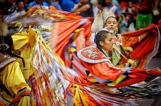 Fancy Shawl Dancers 3 by Clarice Lakota