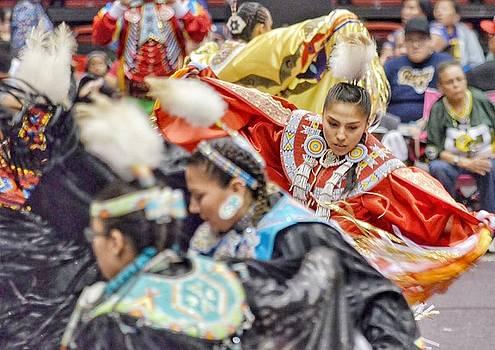 Fancy Shawl Dancers 2 by Clarice Lakota
