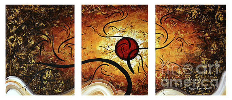 Stunning Original Landscape Painting Red Orb by Megan Duncanson by Megan Duncanson