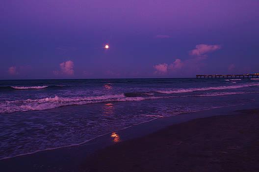 Sturgeon Moon with pier 8-17-16 by Julianne Felton