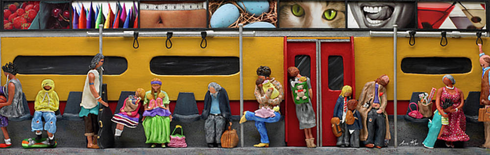 Subway - Lonely Travellers by Anne Klar