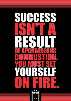 Success Is Not A Result Gym Motivational Quotes Poster by Lab No 4