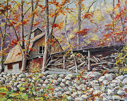 Sugar Shack Beauce Quebec by Richard T Pranke