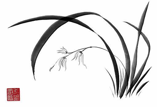 Sumi-e Orchid - Two by Lori Grimmett