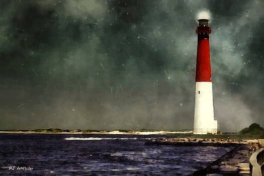 Summer Night at the Shore by RC deWinter