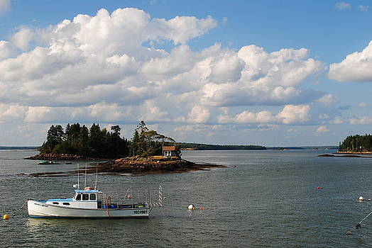 Summer Clouds Downeast by Steven Scott