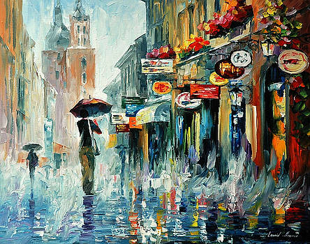 Summer Downpour 2 - PALETTE KNIFE Oil Painting On Canvas By Leonid Afremov by Leonid Afremov