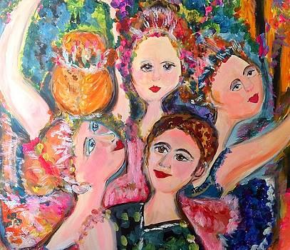 Summer garden ballet by Judith Desrosiers
