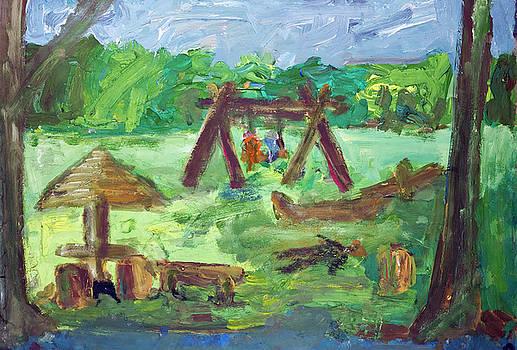 Summer holiday in the village by Aleksandr Volkov