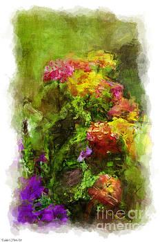 Summer Lantana Garden - Digital Paint 4   by Debbie Portwood