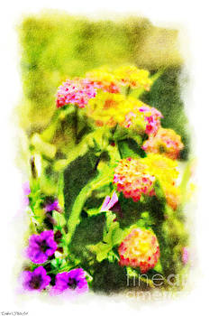 Summer Lantana Garden - Digital Paint - 5 by Debbie Portwood