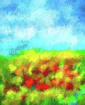 Summer Time Abstract  by OLenaArt Lena Owens