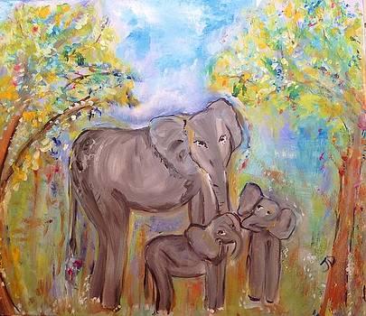 Summers Elephants  by Judith Desrosiers