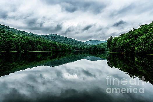 Summit Lake and Rain Clouds by Thomas R Fletcher