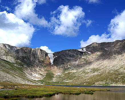 Summit Lake at Mount Evans Colorado by D Winston