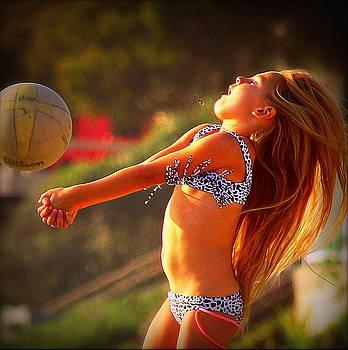 Sun Beach Girl by Kip Krause
