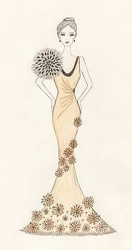 Sun Burst Gown by Christine Corretti