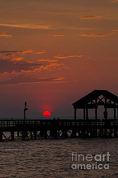 Alexander Butler - Sun Peeking over Pier