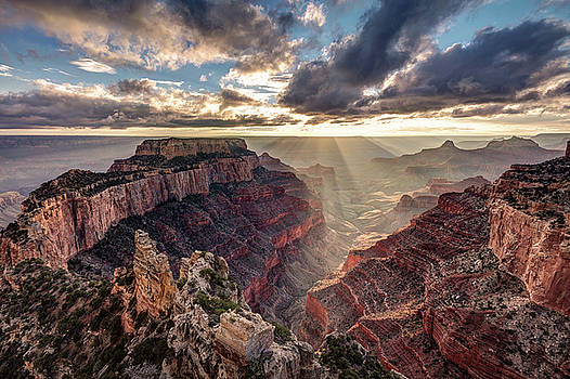 Sun Rays At Cape Royal by Pierre Leclerc Photography