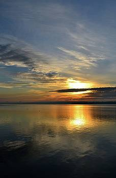 Sun Rising Over The Bay  by Lyle Crump