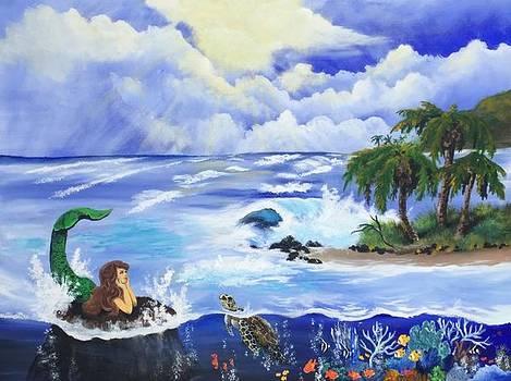 Sunbathing in Paradise by Tim Loughner