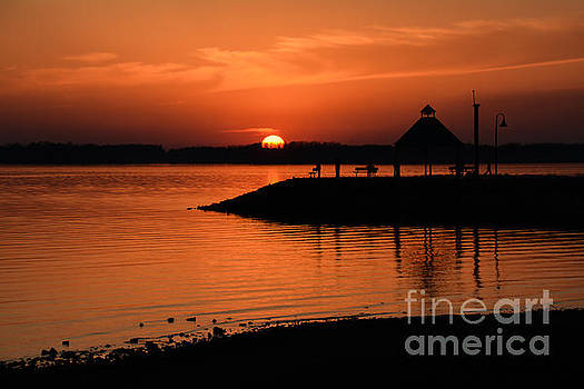 Sundown on the Lake by Debbie Green