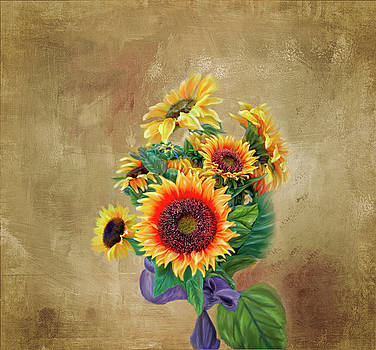 Sunflower Bouqet by Mary Timman
