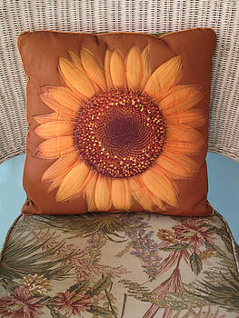 Sunflower Pillow by Dave Mills