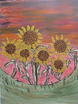 Sunflower Sunset by Sharyn Winters