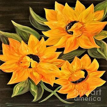 Sunflower Trio by Eloise Schneider